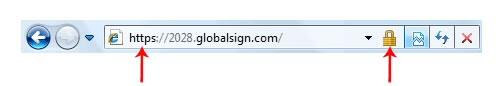 Beispiel Browser Adressleiste mit SSL Verschlüsselung